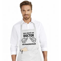 Sort de bucatarie personalizat - Asa arata un doctor extraordinar