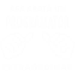 """Tricou """"Asa arata un programator extraordinar"""""""
