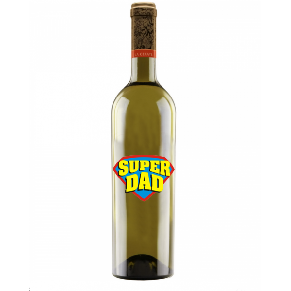 "Vin ""La Cetate"" Personalizat - ""Super Dad"""