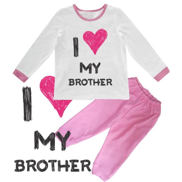 """Pijama copil """"I love my brother"""""""