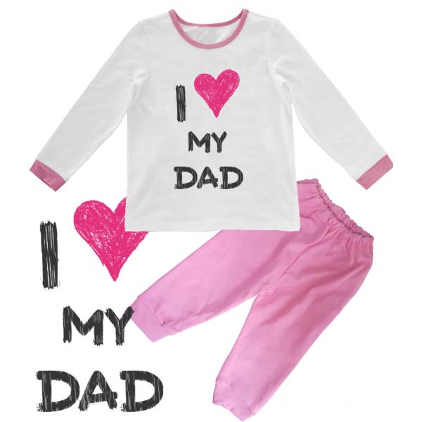 "Pijama copil ""I love my dad"""