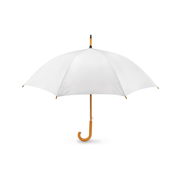 Umbrela automata cu maner de lemn