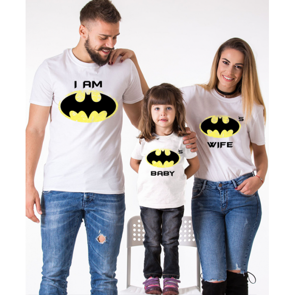 "Set tricouri familie ""Bat family"""