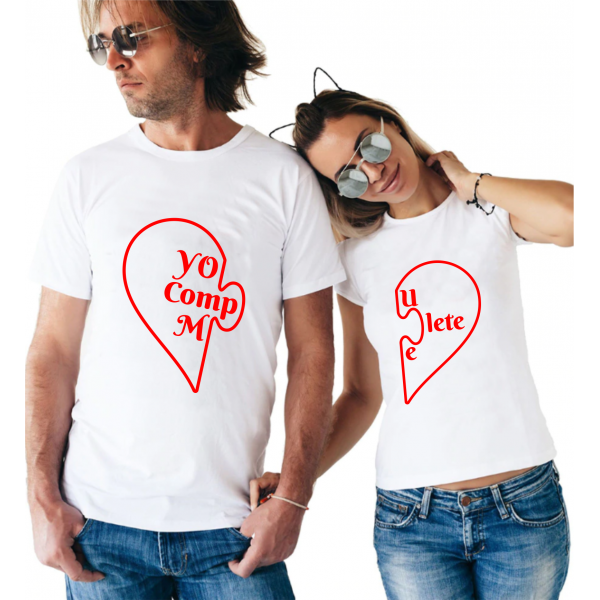 """Set tricouri cupluri """"You Complete Me"""""""
