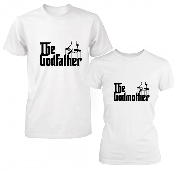 "Set 2 tricouri pentru nasi ""The godfather/the godmother"""