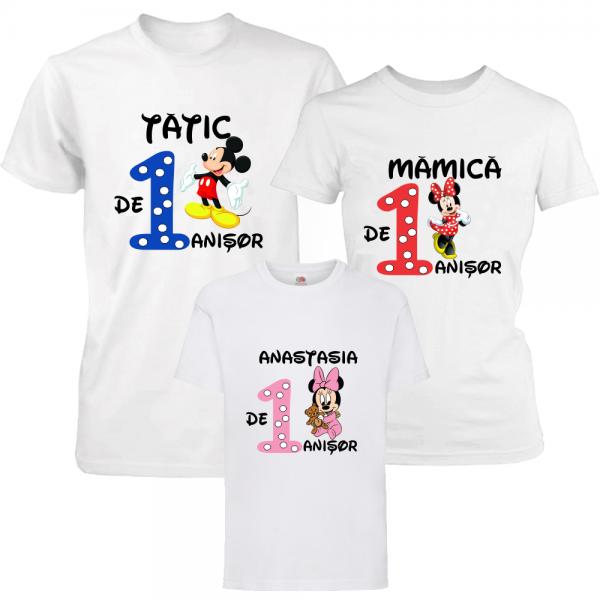 "Set tricouri familie ""Aniversare fetita"""