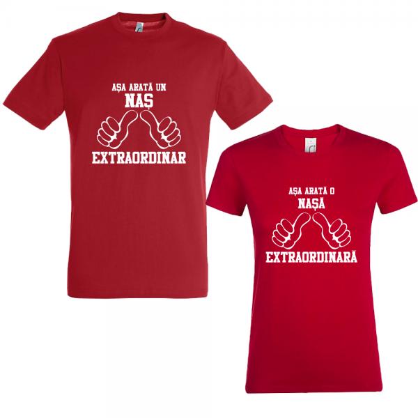 """Set 2 tricouri pentru nasi """"Nas si nasa extraordinari"""""""