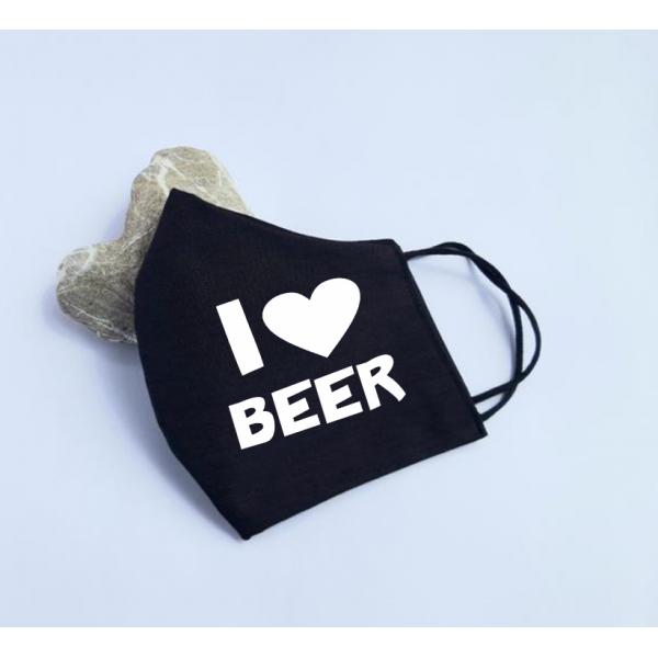 "Masca personalizata ""I love beer"""