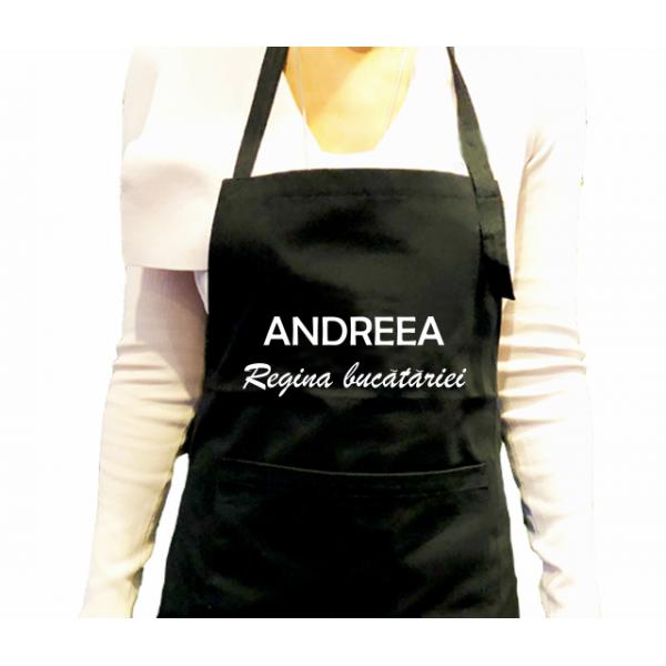 Sort de bucatarie personalizat cu numele tau  - Regina bucatariei