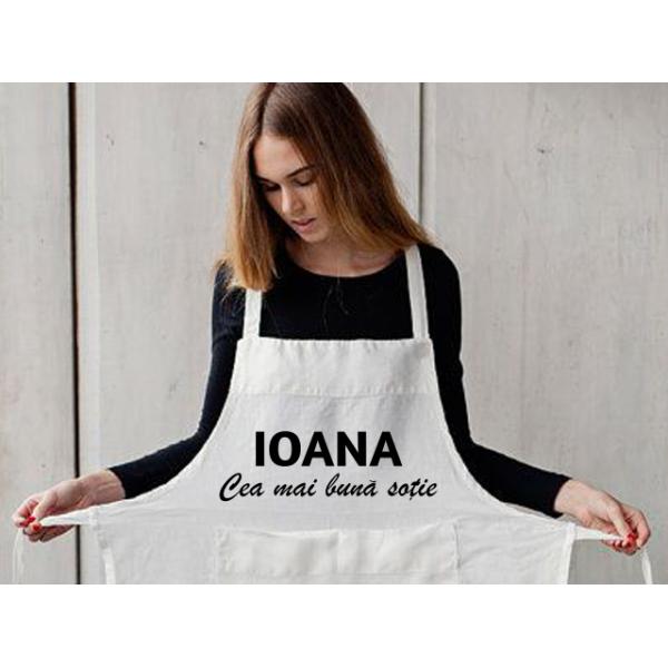 Sort de bucatarie personalizat cu numele tau  - Cea mai buna sotie
