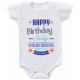 "Body bebelus ""Happy birthday daddy"""