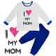 """Pijama copil """"I love my mom"""""""