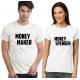 "Set tricouri cupluri ""Money maker/Money spender"""