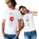 "Set tricouri cupluri ""Puzzle Heart"""