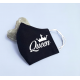 "Set de masti personalizate pentru cupluri ""King and Queen"""